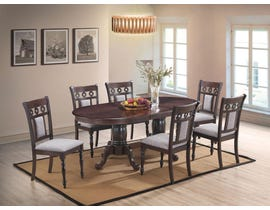 Lakewood Series 7pc Dining Table Set in Cherry/Expresso