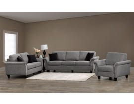SBF Upholstery 3pc Fabric Sofa Set in Troy 60