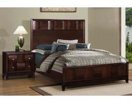 Tess Series 3pc Queen Bed & Nightstand in Dark Walnut TKL306D