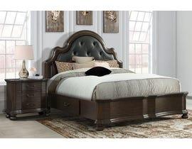 High Society Avery Series 3pc Queen Bed & Nightstand in Espresso AV600