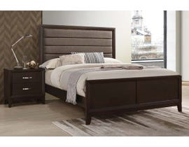 High Society Tremont Series 3pc Queen Bed & Nightstand in Dark Chocolate TM100
