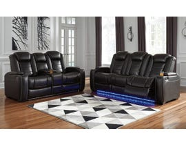 Ashley Party Time Series 2pc Power Reclining Sofa Set in Midnight 37003-15-18