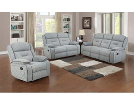 Flair Malden Series 3pc Reclining Sofa Set in Inferno Storm Grey