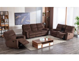 Lifestyle 3pc Manual Reclining Sofa Set in Chocolate U80033