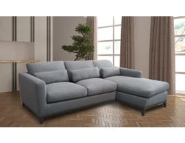 High Society Kingsley Series RHF Fabric Sectional in Grey ADUKG300