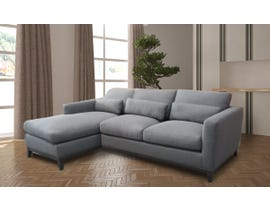High Society Kingsley Series LHF Fabric Sectional in Grey ADUKG300