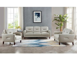 Amax Clooney Series 3pc Leather Sofa Set in Ice 6900U