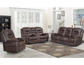 Klaussner Turismo Series 3pc Power Reclining Sofa Set in Chocolate