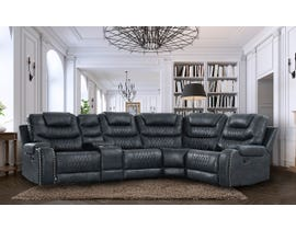 High Society Paramount Series 5pc Sectional in Sierra Navy UPM30011