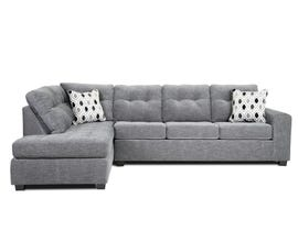A&C Furniture 2pc LHF Fabric Sectional in Light Grey 1212