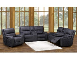 Kwality Perth Series 3pc Reclining Sofa Set w/USB outlet in Stone Grey Blue 8279