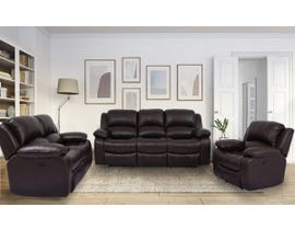 Amalfi Dual Power Reclining Sofa Set in Brown 8251