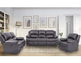 Amalfi Dual Power Reclining Sofa Set in Dark Charcoal 8251