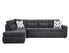 A&C Furniture LHF Fabric Sectional in Dark Grey 1212