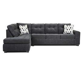 A&C Furniture LHF Fabric Sectional in Dark Grey 1212
