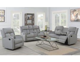 Kwality Hillsdale Series 3pc Reclining Sofa Set in Grey 7712