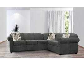 Edgewood Furniture Rosetta RHF Sectional Sleeper in Evansville Platinum 1409