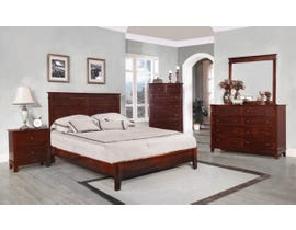 Flair Desoto Series 6pc Queen Bedroom Set in Walnut