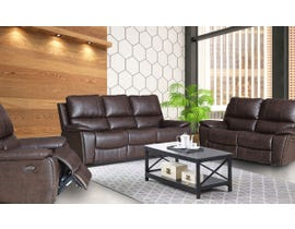 Fresh Brent Series 3pc Leather Air Power Reclining Sofa Set in Chocolate