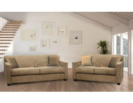 EWOOD Studio Montana Series 2pc Sofa Set in Mocha C-711
