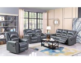 Fresh Leather Air Reclining Sofa Set in Grey 6019