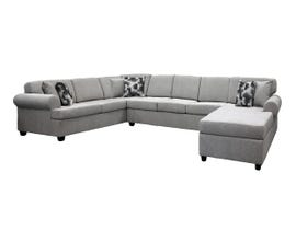 EWOOD Studio RHF Chaise 3pc Sectional in Grey 2172
