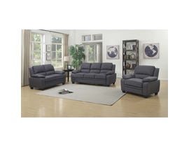 Mazin 3-Piece Linen Fabric Living room set in Grey 9151GY
