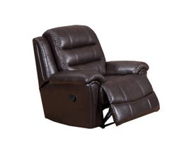 Sofa Express by Fancy Bennet Solitaire leather power recliner in Montana Chocolate brown 9153