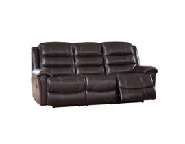 Sofa by Fancy Bennet Solitaire Leather Match Sofa in Chocolate Brown 9153