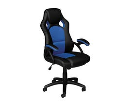 Brassex Ergonomic High-Back Executive Office Chair Black/Blue  9157-BL