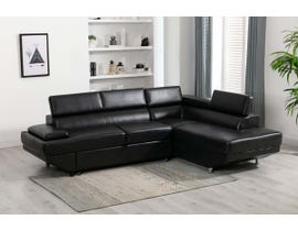 Lifestyle Sectional with Pull Out Sleeper Ottoman in Charcoal U93552