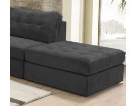 Lifestyle Fabric Ottoman Grey U9377X