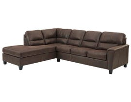 Signature Design by Ashley Navi Series LAF Corner Chaise Sectional in Chestnut 9400316-67