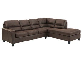 Signature Design by Ashley Navi Series RAF Corner Chaise Sectional in Chestnut 9400317-66