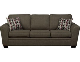 SBF Upholstery Fabric Sofa in Hailey Chrome 9555