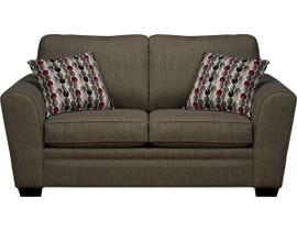 SBF Upholstery Fabric Loveseat in Hailey Chrome 9555