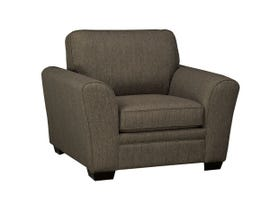 SBF Upholstery Fabric Chair in Hailey Chrome 9555