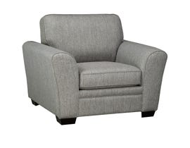 SBF Upholstery Sorrento Fabric Chair in Grey 9555