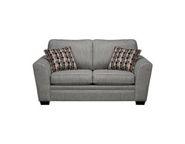 SBF Upholstery Sorrento Fabric Love seat in Grey 9555