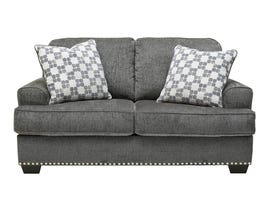 Signature Design by Ashley Locklin Collection Fabric loveseat in Carbon 95904