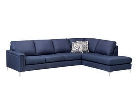 SBF Upholstery Hopkins Collection Fabric Sectional Sofa in PULSAR 304 BLUE 9814-04-18