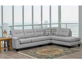 SBF Upholstery Jaden Collection fabric sectional in Truffle Rich Grey 9825-04-18