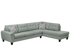 SBF Upholstery Jaden Collection Fabric Sectional in Truffle Sage 9825-04-18