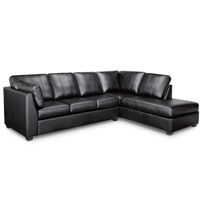 Sofa express by Fancy Stanley Collection polyurethane 2-piece sectional in black 9830