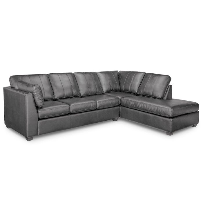 Sofa express by Fancy Stanley Collection polyurethane 2-piece sectional in grey 9830