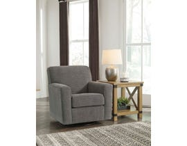 Signature Design by Ashley Alcona Collection Fabric Accent Chair in Charcoal 98310