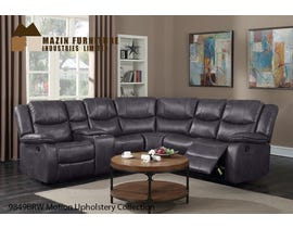 Mazin Furniture Power Reclining Sectional in Grey