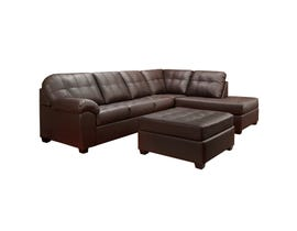 Sofa express by Fancy Boardwalk Collection polyurethane 2-piece sectional in chocolate brown 9880