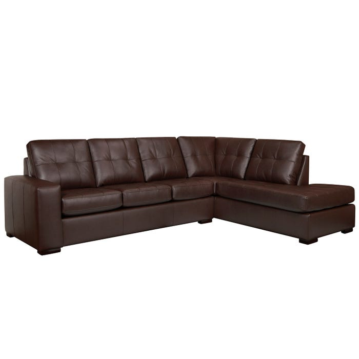 Sofa express by Fancy Coral Collection polyurethane 2-piece sectional in chocolate 9883