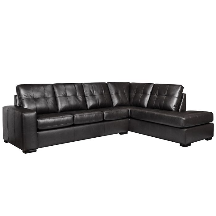 Sofa express by Fancy Coral Collection polyurethane sectional in black 9883